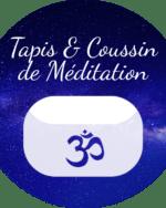 Coussin et tapis de méditation